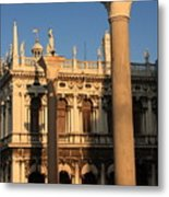 Pillars At Piazzetta San Marco In Venice Metal Print