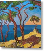 Pines Of The Silver Beach Metal Print