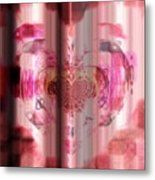 Pink Against Cancer Metal Print