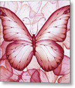 Pink Butterflies Metal Print by Christina Meeusen