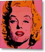 Pink Folded Marilyn Metal Print