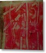 Pink Monotype Metal Print