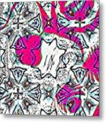 Pink Octopus Metal Print