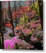 Pink Poodle Paradise Metal Print