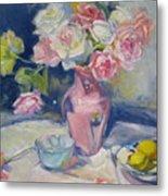 Pink Vase Metal Print