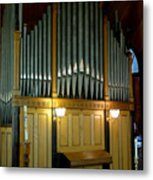 Pipe Organ Of Old Metal Print