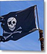 Pirate Flag Skull And Cross Bones Metal Print by Garry Gay