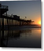 Pismo Beach Pier California 4 Metal Print