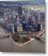 Pittsburgh 8 In Color  Metal Print by Emmanuel Panagiotakis