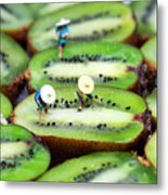 Planting Rice On Kiwifruit Metal Print by Paul Ge