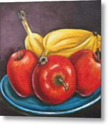Platter Of Fruit Metal Print