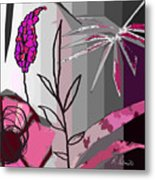 Play On Pink Metal Print