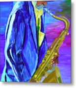Playing The Blues Metal Print
