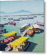 Pleasure Boats On Lake Chapala Metal Print
