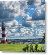 Plymouth Hoe And Smeatons Tower Metal Print
