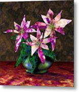 Poinsettia Still Life Metal Print