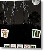 Poker Cards Metal Print