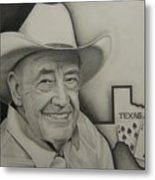 Poker Legend Metal Print