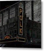 Polk Movie House Metal Print by David Lee Thompson