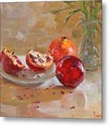 Pomegranates Metal Print