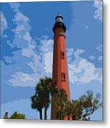 Ponce Inlet Light Metal Print