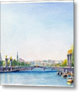 Pont Alexandre IIi Or Alexander The Third Bridge Over The River Seine In Paris France Metal Print