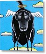 Poo Dog Goes To Heaven Metal Print