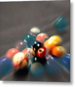 Pool Ball Break 2 Metal Print