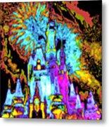Popart Castle Metal Print