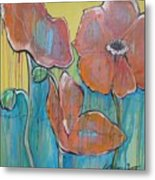 Poppies 3 Metal Print