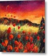 Poppies At Sunset 67 Metal Print