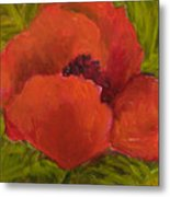 Poppies Diptych A Metal Print by Rita Bentley