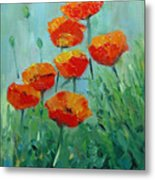 Poppies For Sally Metal Print