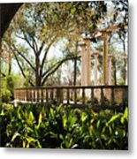 Popp's Fountain Metal Print