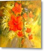 Poppy Bouquet  Metal Print