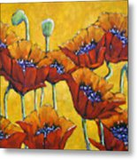 Poppy Craze By Prankearts Metal Print