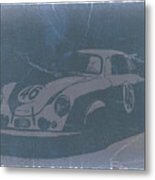 Porsche 356 Coupe Front Metal Print by Naxart Studio