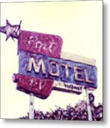 Port Motel Metal Print