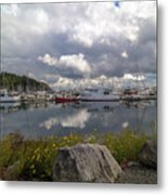 Port Of Anacortes Marina On A Cloudy Day Metal Print