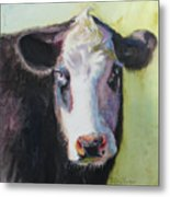 Portrait Of A Cow Metal Print