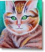 Portrait Of A Kitten Metal Print