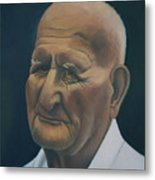 Portrait Of Old Man In St. Louis Metal Print