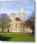Portsmouth Cathedral At Springtime Metal Print