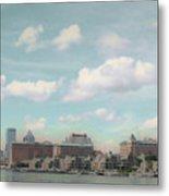 Postcard Look Of Tampa Skyline Metal Print