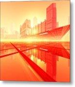Poster-city 1 Metal Print