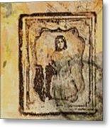 Postmark Girl Metal Print