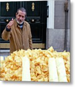 Potato Chip Man Metal Print