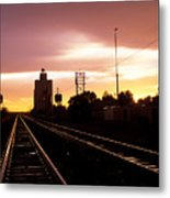 Potter Tracks Metal Print