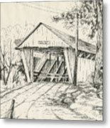 Potter's Covered Bridge Metal Print