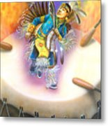 Powwow Dancer Metal Print